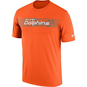 Nike Men's Miami Dolphins Sideline Seismic Legend Performance Orange T-Shirt