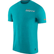 Nike Men's Miami Dolphins Sideline Coach Performance Aqua T-Shirt