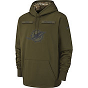 Nike Men's Salute to Service Miami Dolphins Therma-FIT Performance Hoodie
