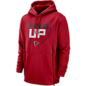 Nike Men's Atlanta Falcons Sideline Therma-FIT Local Red Performance Hoodie