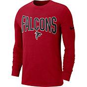 Nike Men's Atlanta Falcons Sideline Property Of Long Sleeve Red Shirt