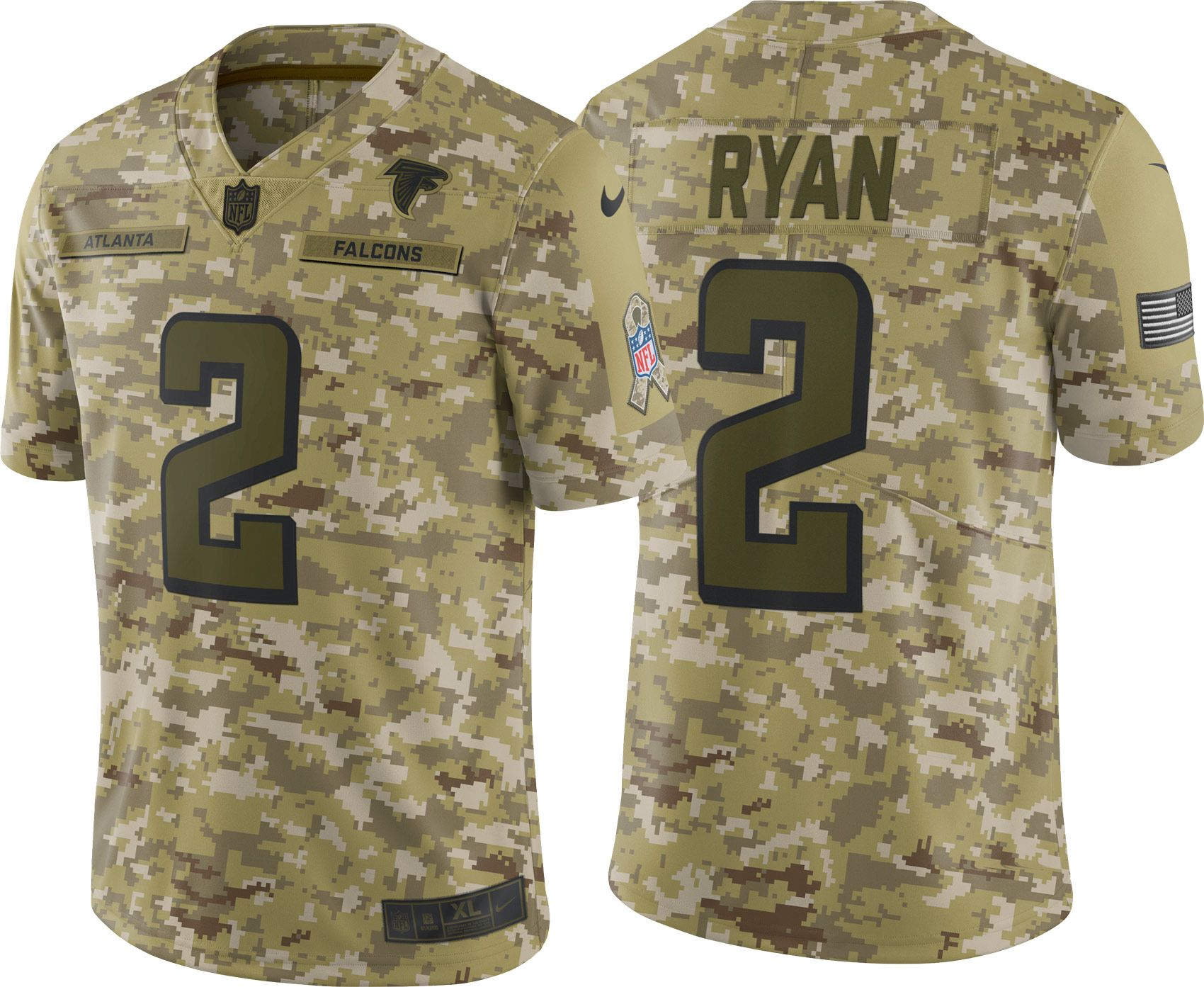 the best attitude d466a e751f Nike Men's Salute to Service Atlanta Falcons Matt Ryan #2 ...
