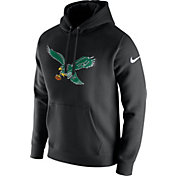 Nike Men's Philadelphia Eagles Historic Logo Club Black Hoodie