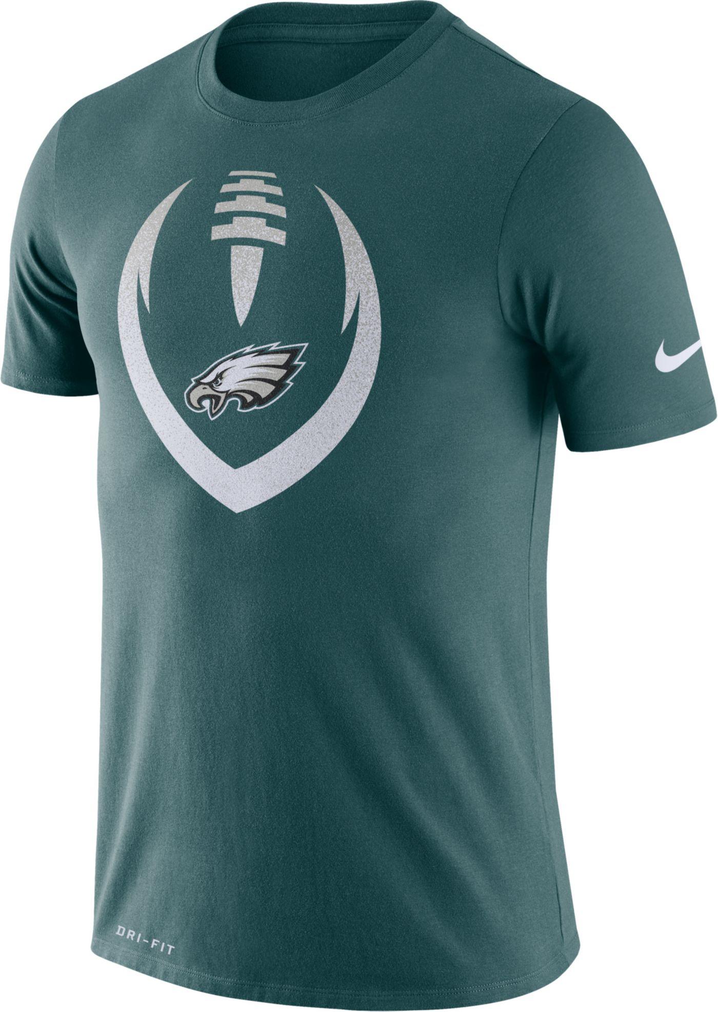 Nike Men's Philadelphia Eagles Icon Green Performance T-Shirt