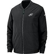 Nike Men's Philadelphia Eagles Sideline Shield Black Bomber Jacket