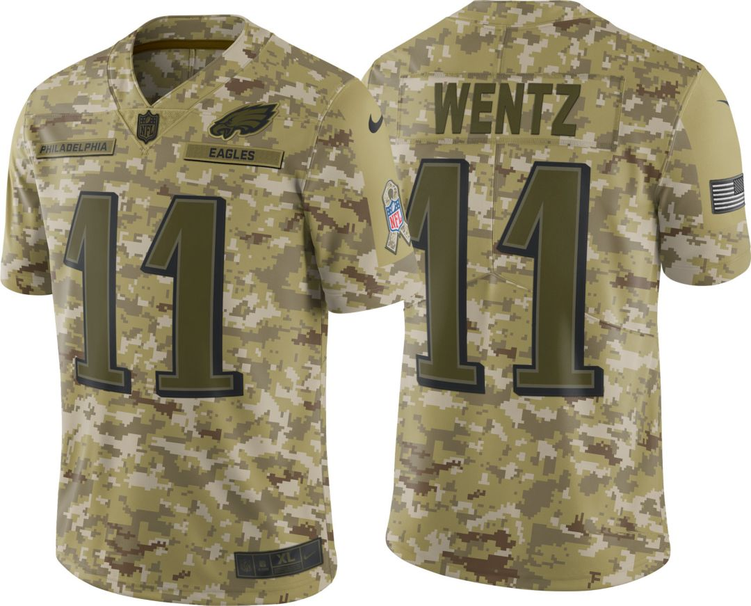 f29aac98ebd Nike Men's Salute to Service Philadelphia Eagles Carson Wentz #11 Limited  Jersey 1