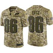 Nike Men's Salute to Service Philadelphia Eagles Zach Ertz #86 Camouflage Limited Jersey