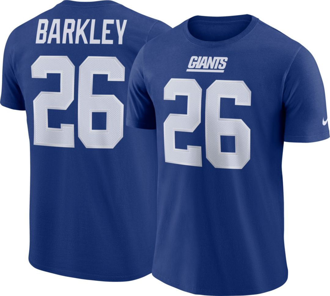 best sneakers b7d63 8bc26 Saquon Barkley #26 Nike Men's New York Giants Pride Blue T-Shirt