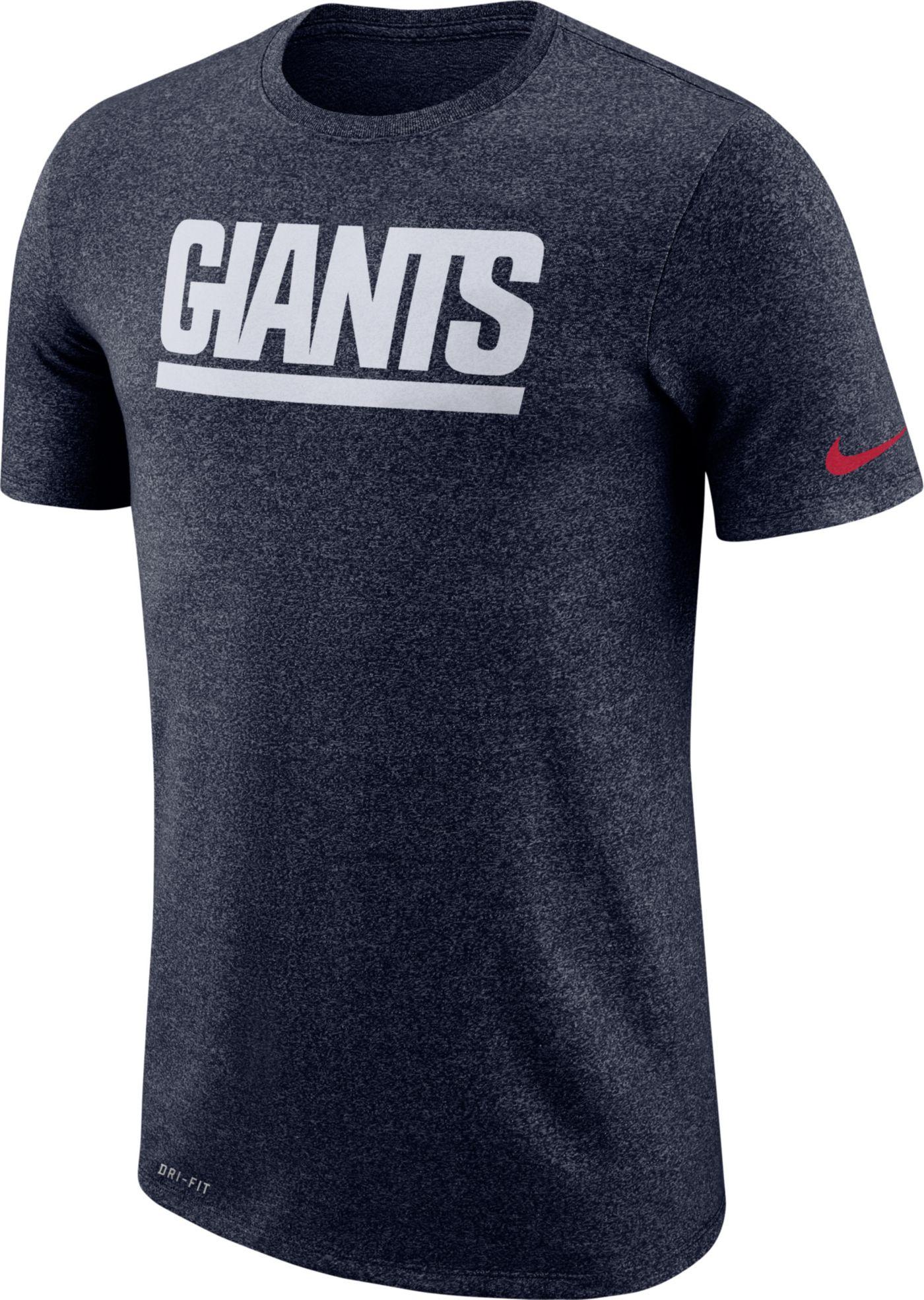 Nike Men's New York Giants Marled Historic Performance Navy T-Shirt