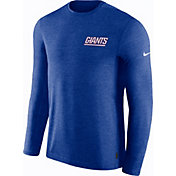 Nike Men's New York Giants Sideline Coach Performance Blue Long Sleeve Shirt