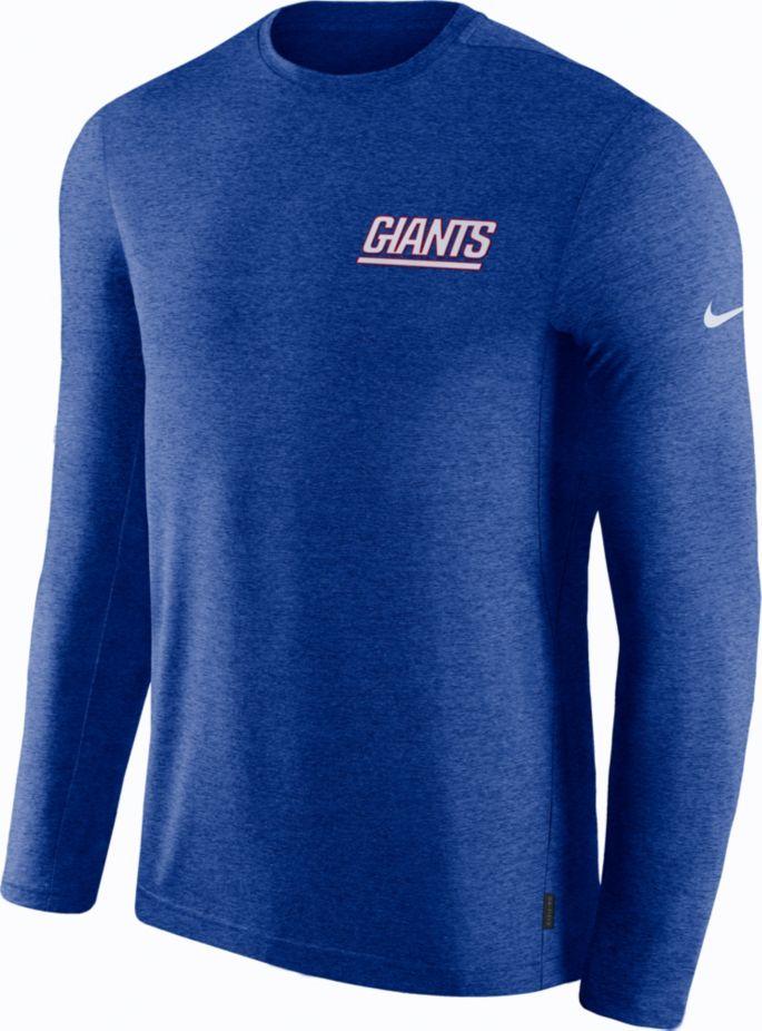 new concept 5dd1d e7785 Nike Men's New York Giants Sideline Coach Performance Blue Long Sleeve Shirt