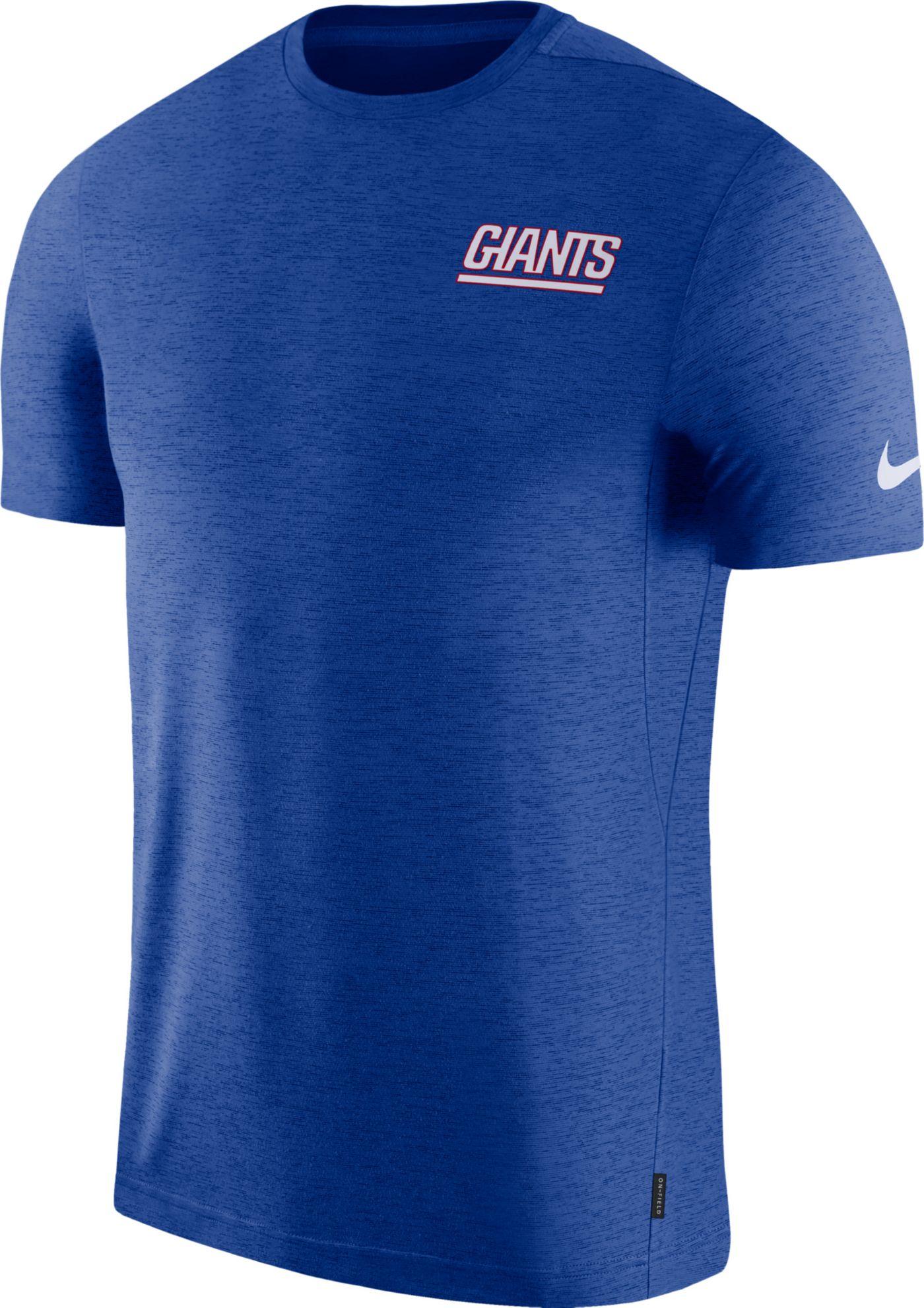 Nike Men's New York Giants Sideline Coach Performance Blue T-Shirt