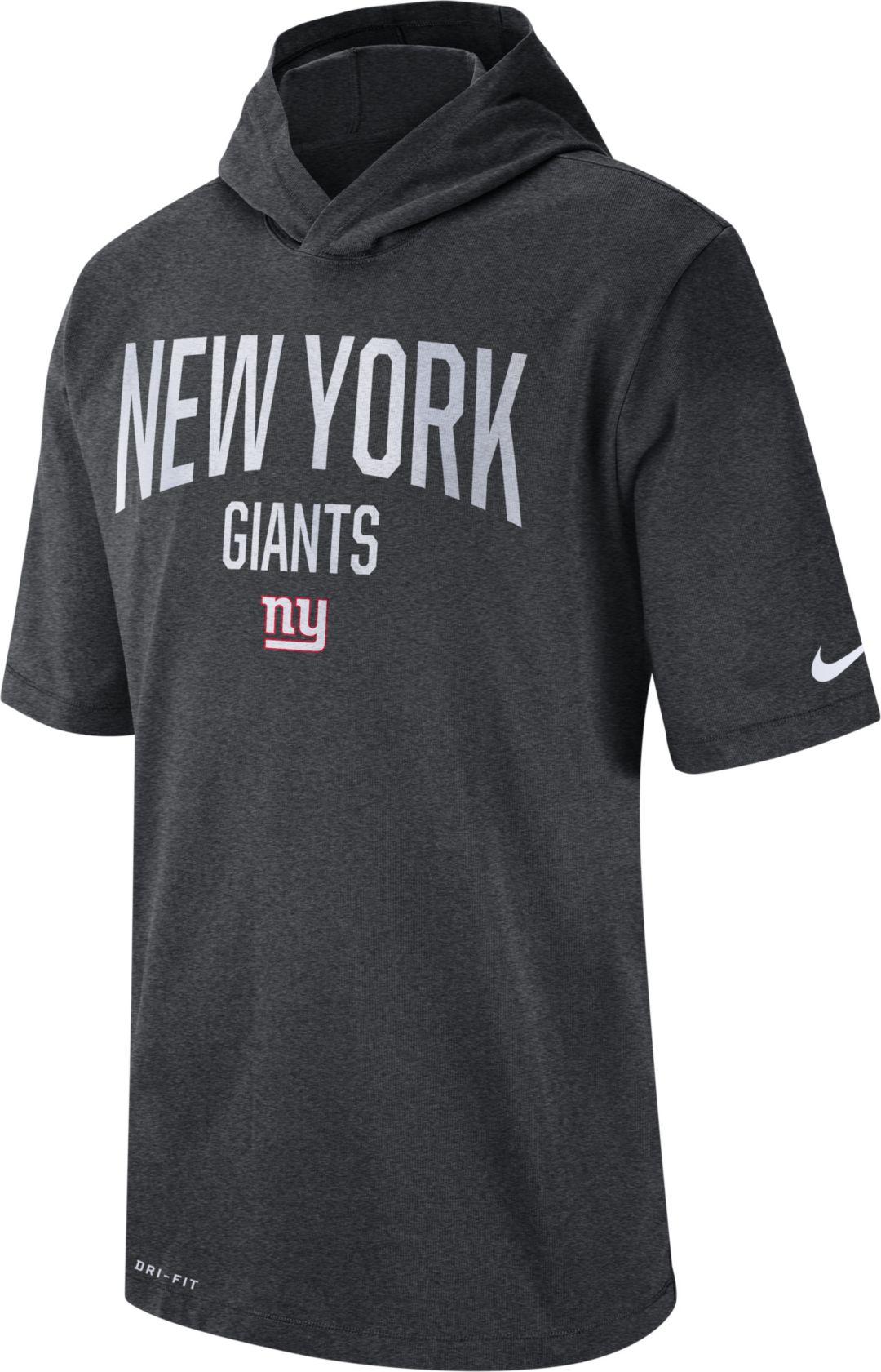 online retailer 5c8c0 ad407 Nike Men's New York Giants Sideline Charcoal Short-Sleeve ...