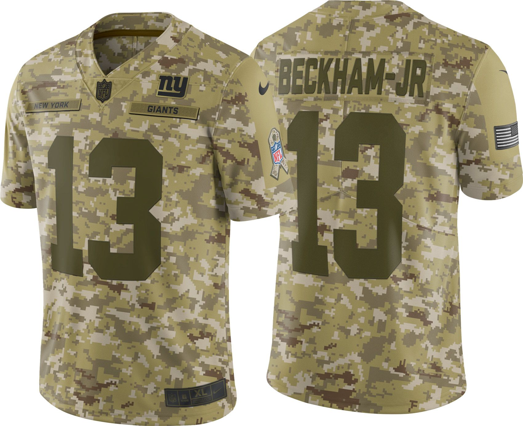7df0698aa ... anthracite nike stitched limited jersey 13362 a3ddd  usa nike mens  salute to service new york giants odell beckham jr. 13 camouflage limited