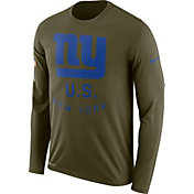 Nike Men's Salute to Service New York Giants Legend Performance Long Sleeve Shirt