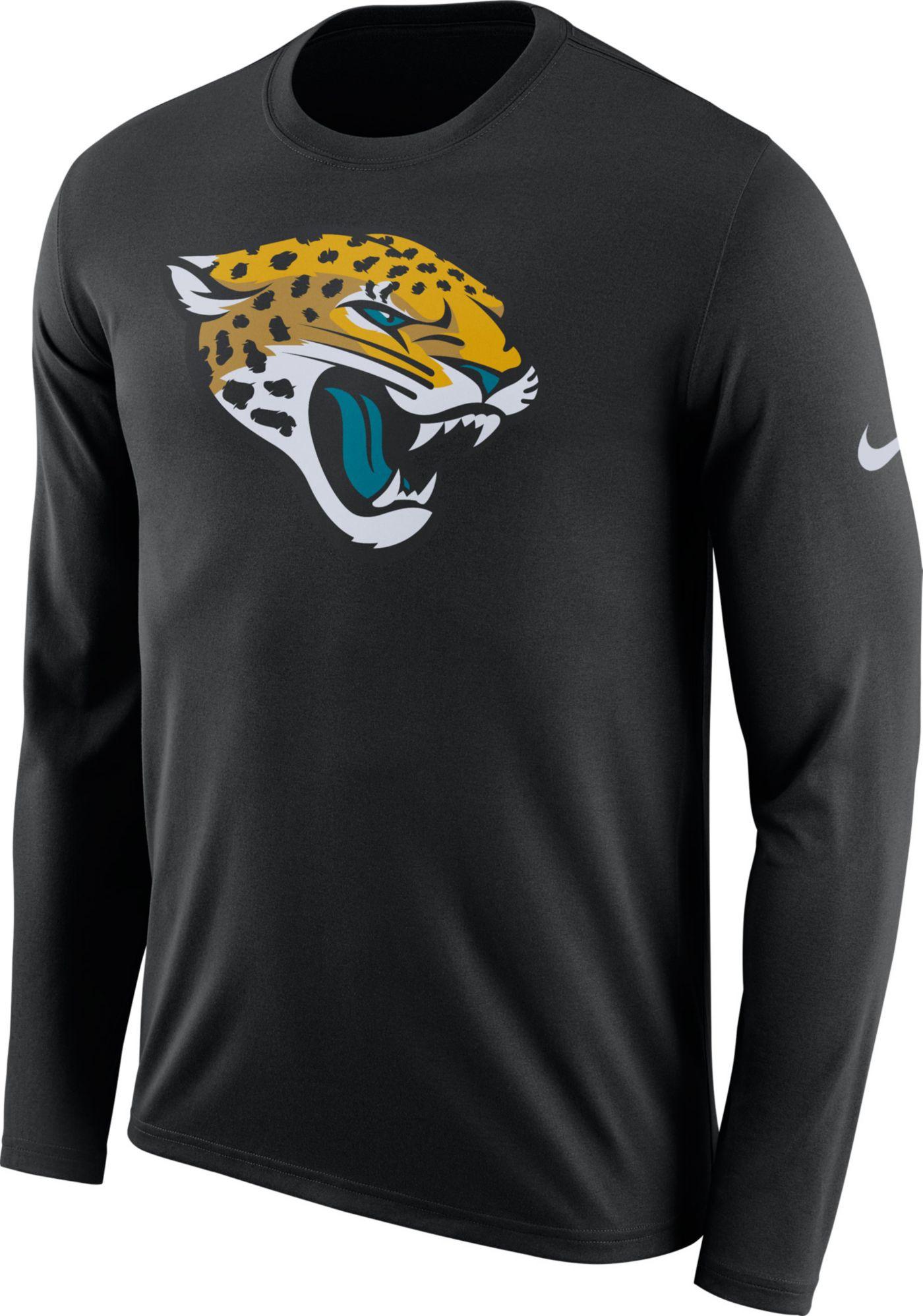 Nike Men's Jacksonville Jaguars Logo Black Long Sleeve Shirt