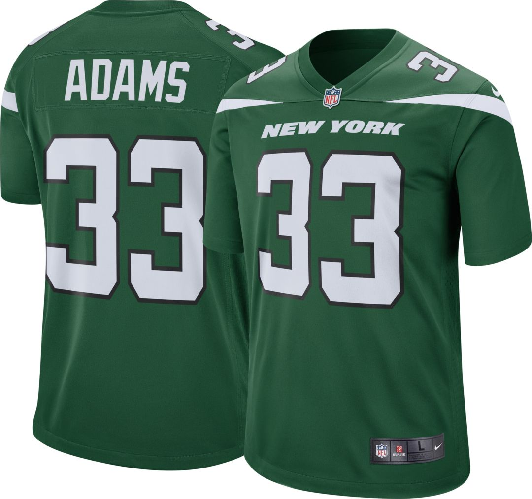 info for b0909 db2aa Nike Men's Home Game Jersey New York Jets Jamal Adams #33