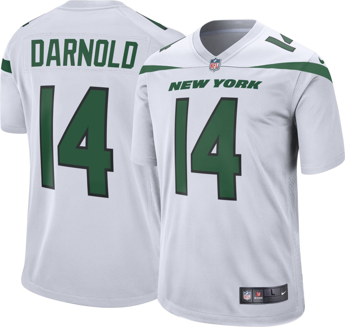 Nike Men's Away Game Jersey New York Jets Sam Darnold #14