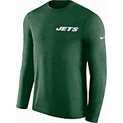 Nike Men's New York Jets Sideline Coach Performance Green Long Sleeve Shirt