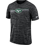 Nike Men's New York Jets Sideline Legend Velocity Black T-Shirt