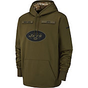 Nike Men's Salute to Service New York Jets Therma-FIT Performance Hoodie