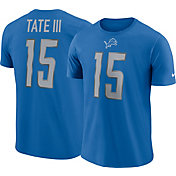 Nike Men's Detroit Lions Golden Tate #15 Pride Logo Blue T-Shirt