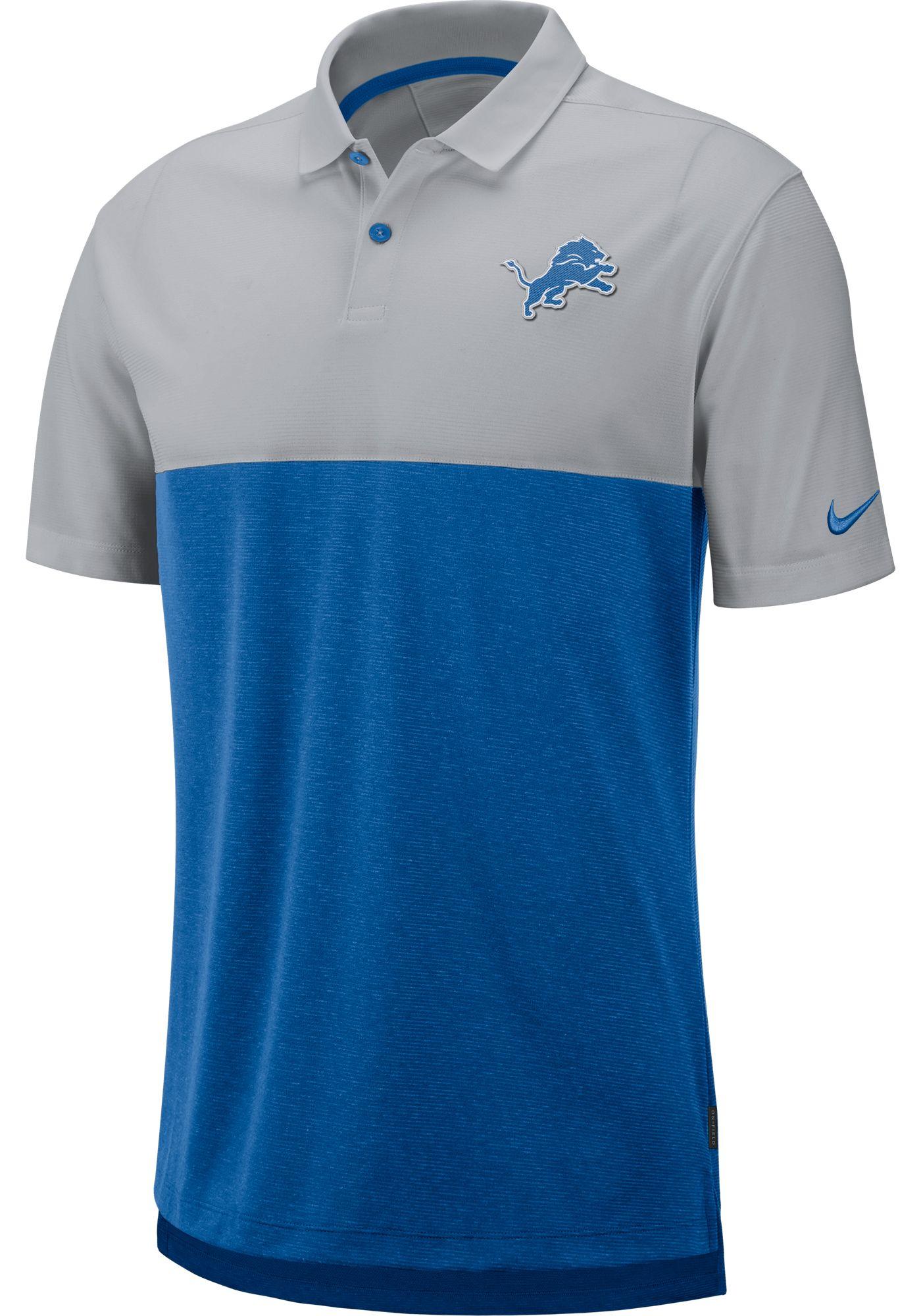 Nike Men's Detroit Lions Sideline Early Season Grey Polo