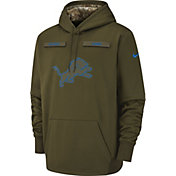 Nike Men's Salute to Service Detroit Lions Therma-FIT Performance Hoodie