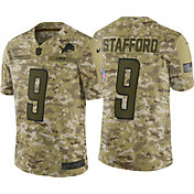 Nike Men's Salute to Service Detroit Lions Matthew Stafford #9 Camouflage Limited Jersey