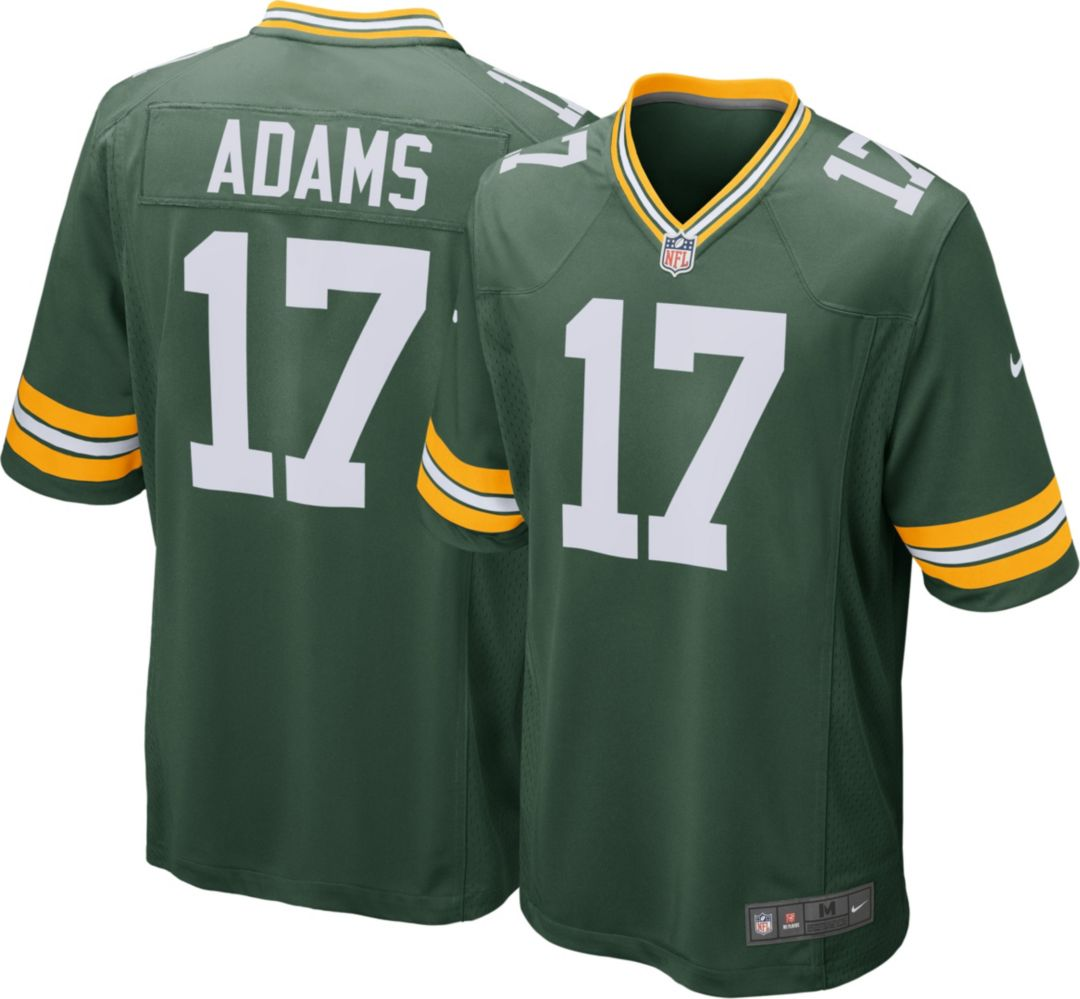 buy popular f1275 32a37 Nike Men's Home Game Jersey Green Bay Packers Davante Adams #17
