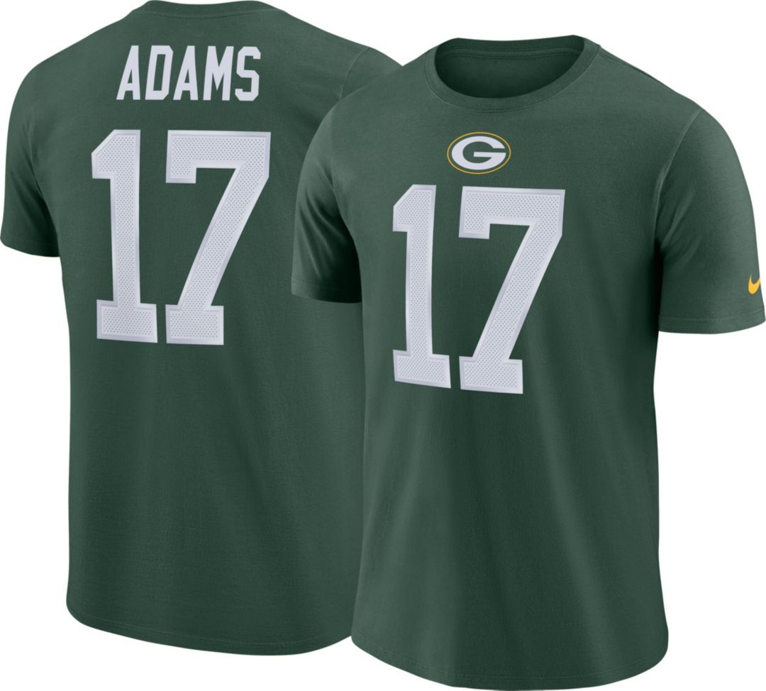 finest selection de41d 2e06a Nike Men's Green Bay Packers Davante Adams #17 Pride Logo Green T-Shirt