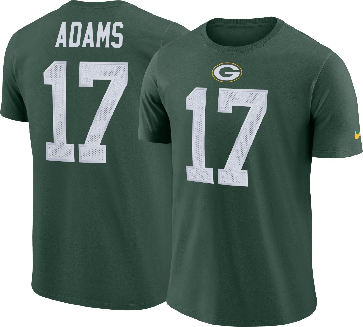 Nike Men's Green Bay Packers Davante Adams #17 Pride Logo Green T-Shirt