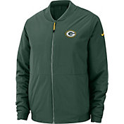 Nike Men's Green Bay Packers Sideline Shield Green Bomber Jacket