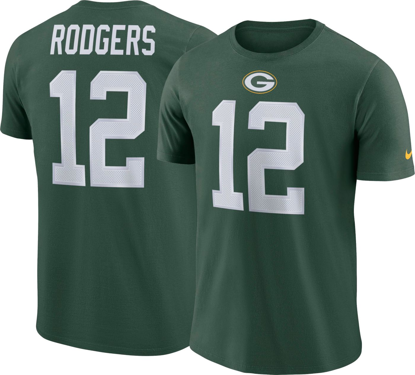 Aaron Rodgers #12 Nike Men's Green Bay Packers Pride Green T-Shirt