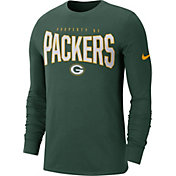 Nike Men's Green Bay Packers Sideline Property Of Long Sleeve Green Shirt