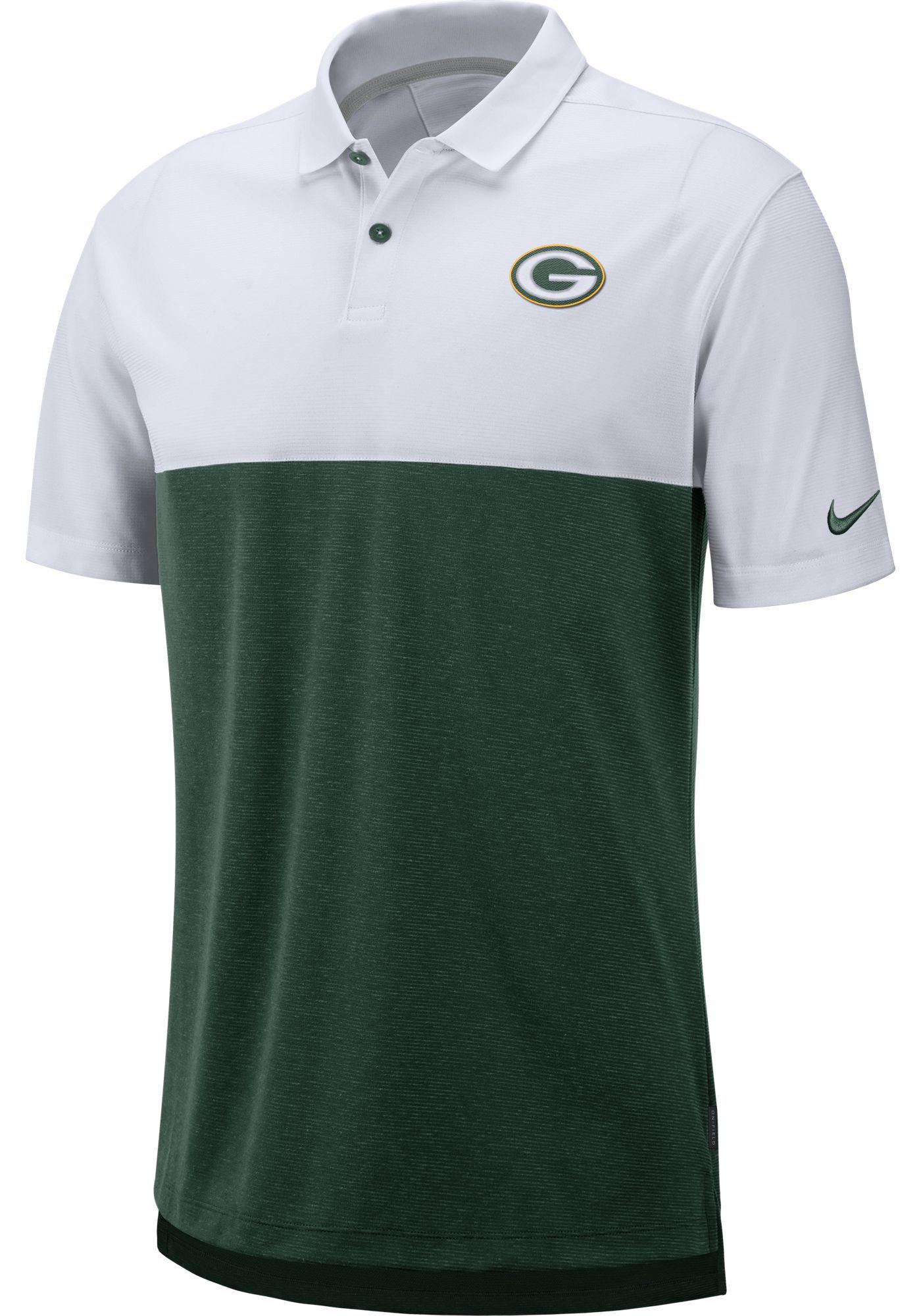 Nike Men's Green Bay Packers Sideline Early Season White Polo