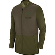 Nike Men's Salute to Service Green Bay Packers Hybrid Full-Zip Jacket
