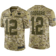 Nike Men s Salute to Service Green Bay Packers Aaron Rodgers  12 Camouflage  Limited Jersey ca0d4b778