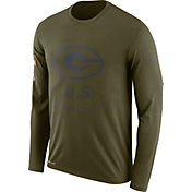 Nike Men's Salute to Service Green Bay Packers Legend Performance Long Sleeve Shirt