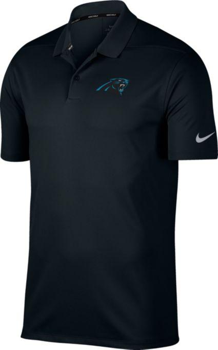 Nike Men's Carolina Panthers Victory Black Golf Polo