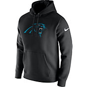 Nike Men's Carolina Panthers Logo Club Black Hoodie