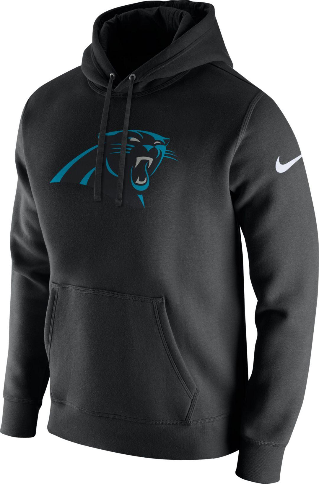 more photos 86d0c a5d88 Nike Men's Carolina Panthers Logo Club Black Hoodie