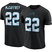 Nike Men's Carolina Panthers Christian McCaffrey #22 Pride Logo Black T-Shirt