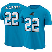 Nike Men's Carolina Panthers Christian McCaffrey #22 Pride Logo Blue T-Shirt