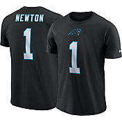 Nike Men's Carolina Panthers Cam Newton #1 Pride Logo Black T-Shirt
