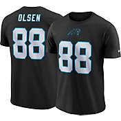 Nike Men's Carolina Panthers Greg Olsen #88 Pride Logo Black T-Shirt