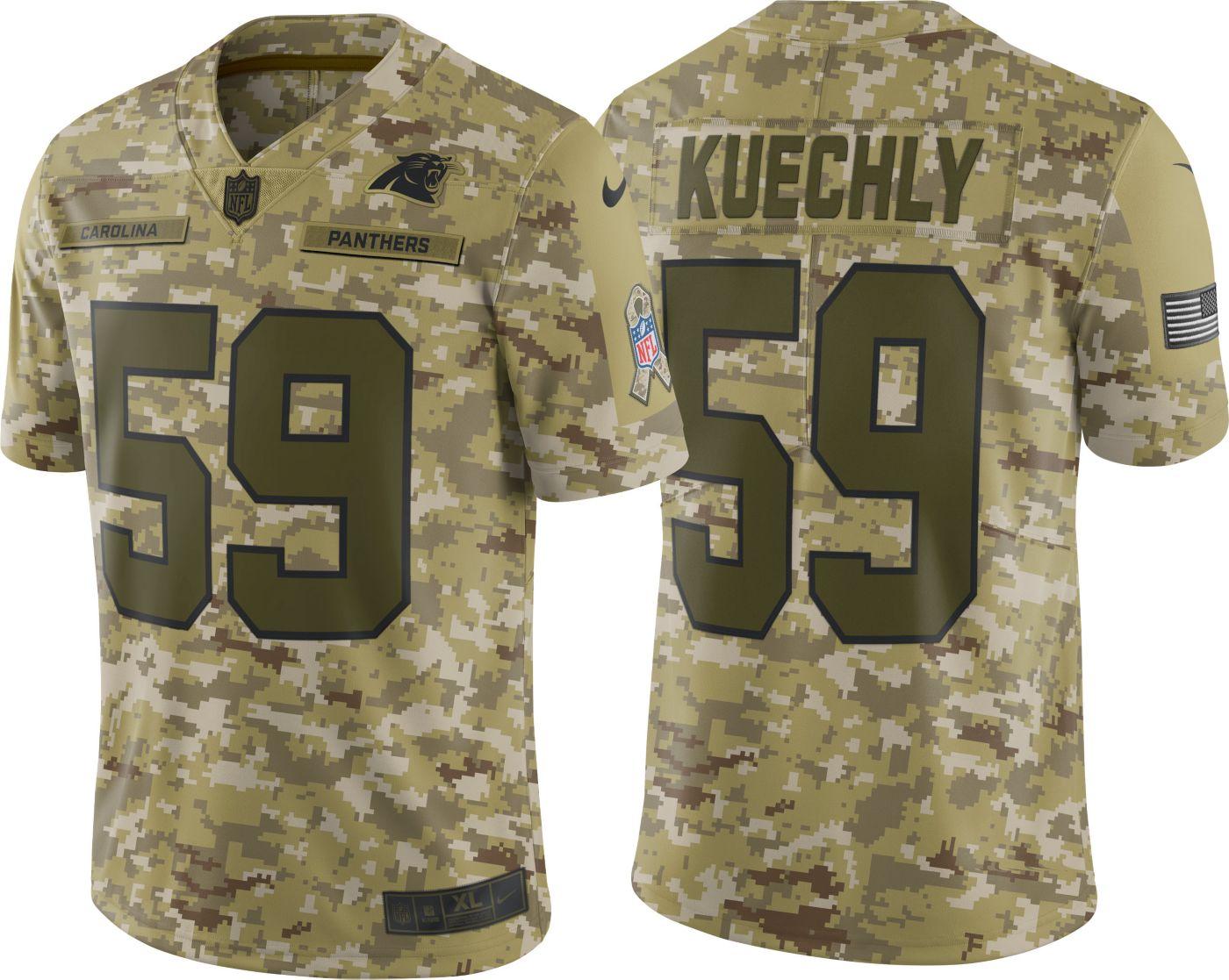 Nike Men's Salute to Service Carolina Panthers Luke Kuechly #59 Limited Camouflage Jersey