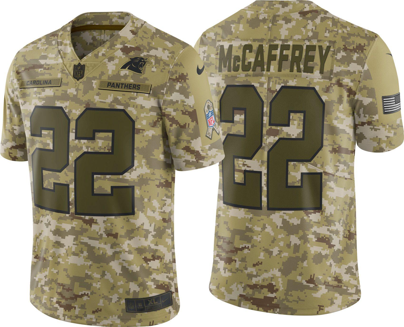 a788099dac3 ... new zealand nike mens salute to service carolina panthers christian mccaffrey  22 limited camouflage jersey best