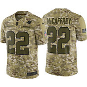 Nike Men's Salute to Service Carolina Panthers Christian McCaffrey #22 Limited Camouflage Jersey