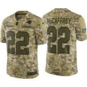 Nike Men's Salute to Service Carolina Panthers Christian McCaffrey #22 Camouflage Limited Jersey